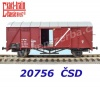 20756 Exact-train Box Car Type Glm/ Ztm of the CSD, Ep.IV