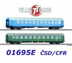 "01695 Tillig TT Set of 2nd Class Passenger Coach ""Balt-Orient-Express 3"", CSD/CFR"