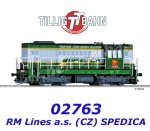 02763 Tillig TT  Diesel Locomotive Class 742 of the RM Lines a.s. (CZ) / SPEDICA