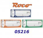 05216 Roco 3 piece set tank container, H0