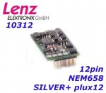 10312-01 Lenz Digital loc decoder PluX12, NEM658