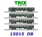 15015 TRIX MiniTRIX N 4-pcs Express Train Passenger Car Set III ep of the DB