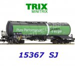 15367 TRIX MiniTRIX N Tank Car for Aviation Fuel  used in the Green Cargo