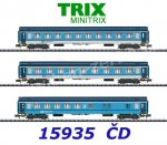 15935 TRIX MiniTRIX N 3 piece express train set of the CD