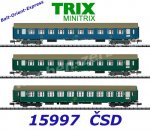 "15997 TRIX MiniTRIX N Set of 3 passenger cars ""Balt-Orient-Express"" of the CSD"