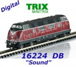 16224 TRIX MiniTRIX N Diesel Locomotive Class V 200  of the DB, Sound