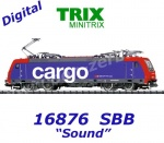 16876 TRIX MiniTRIX N Electric Locomotive Class Re 482 of the SBB Cargo, Sound