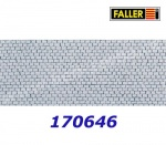 170646 Faller Cobblestone pavement square 480 x 240 mm, H0