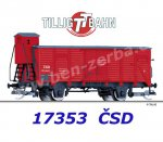 17353 Tillig TT Box Car Type G  with brakeman's cab of the ČSD