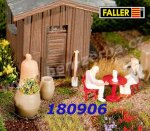 180906 Faller 2 Wooden casks and 2 tubs