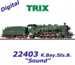"22403 Trix Steam Locomotive S 3/6 the ""High Stepper"" - Class 18.4 of the K.Bay.Sts.B., Sound"
