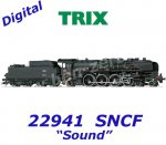 22941 TRIX Steam Locomotive with a Tender Class 241-A-65 of the SNCF, Sound
