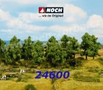 24600 Noch Deciduous Trees, 8 pieces, High 10 - 14 cm, H0,TT