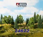 24622 Noch Mixed Trees - 6 psc, 14 - 18 cm high, 0, H0, TT