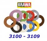 3109 Brawa Cable white - 10m,  0,14 mm2