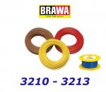 3213 Brawa Cable on reel blue - 25m,  0,25 mm2