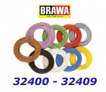 32404 Brawa Thin cable (0,05 mm2), brown, 10 m