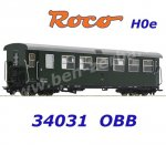 34031 Roco H0e Passenger coach 2nd class Type B4ip/s of the ÖBB