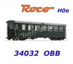 34032 Roco H0e Passenger coach 2nd class Type B4ip/s of the ÖBB