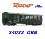 34033 Roco H0e Passenger coach 2nd class with baggage compartment of the ÖBB - H0e