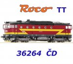36264 Roco TT Diesel locomotive class 754 of the CD