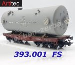 393.001 Artitec Heavy Duty Flat Car of the FS
