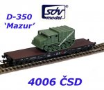 4006 SDV Flatcar type Salp/Px with military vehicle of the CSD