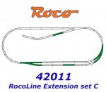 42011 Roco Extedning set ROCO LINE track set C (tracks with bedding)