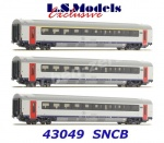 43049 LS Models Set of 3 passenger express train cars of the SNCB