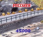 45000 Vollmer Railings, 20 pcs, H0
