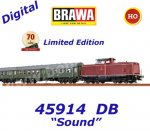 "45914 Brawa Set of the train ""Schwäbische Waldbahn"" with diesel locomotive BR 212 , Sound"