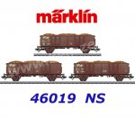 46019 Marklin Set of 3 High Side Gondolas Type Eo of the NS