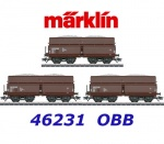 46231 Marklin Set of 3 four-axle hopper cars type Fad, ÖBB