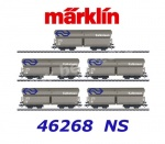 46268 Marklin Set of 5 type Fals hopper cars , NS