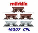 46307 Marklin Set of 5 type Tds  hopper cars, CFL