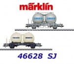 46628 Marklin  Set of two spherical container cars type Ups of the SJ