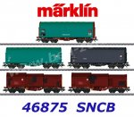 46875 Marklin Set of 5 Freight Cars type Shimmns of the SNCB