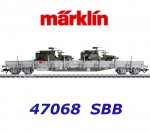 47068 Märklin Low Side Car with 2 Swiss Army infantry vehicles, SBB