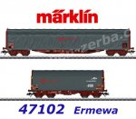 47102  Marklin Set of 2 Sliding Tarp Cars of the Ermewa