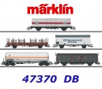 47370 Marklin Set of 5 freight cars of the DB