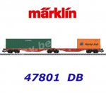 47801 Marklin Flat Car Type Sggrss 80 with 2 Containers, DB