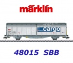 48015 Marklin Sliding Wall Boxcar Type Hbbillns  of the SBB