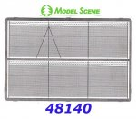 48140 Model Scene High chain fence with barbed wire