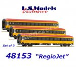 "48153 LS Models Set of 3 Sleeping Cars Type Bcmz59-70  ""REGIOJET"" CZ"