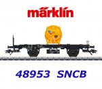 48953 Marklin Flat car with cotntainer Albemarle of the SNCB