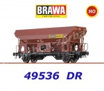 "49536 Brawa Hopper Car Type Eds-u Ommstu ""Rekord Briketts"" of the DR"