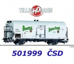"501999 Tillig Refrigerator car Type Lp ""Pradzdroj/Pilsner Urquell"" of the CSD"