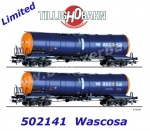 502141 Tillig Set of 2 Tank Cars Type Zacns of the WASCOSA