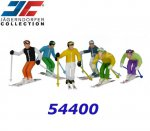 JC54400 Jaegerndorfer Pack of 6 Standing Figures with Ski, 6 pcs. - 1:32