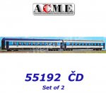 "55192 A.C.M.E. ACME Set of 2 Passenger Car ""Najbrt""-livery of the CD"